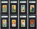 Baseball Cards:Lots, 1909 -11 T206 White Borders Collection (162) with 8 SouthernLeaguers. ...