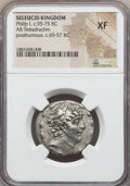 Ancients:Greek, Ancients: SELEUCID KINGDOM. Philip I Philadelphus (95-75 BC). ARtetradrachm. NGC XF....