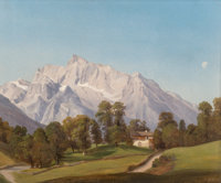 Karl Friedrich Hermann Lungkwitz (German/American, 1813-1891) The Watzmann near Salzburg, September 9