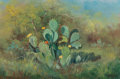 Paintings, Robert William Wood (American, 1889-1979). Prickly Pear Cactus. Oil on canvas . 16 x 24 inches (40.6 x 61.0 cm). Signed ...