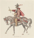 Works on Paper, Jose Cisneros (Mexican/American, 1910-2009). Spanish Captain General c. 1590, 1981 and Spanish Mexican 'Vaquero' in th... (Total: 2 Items)