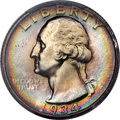Washington Quarters, 1934 25C Light Motto, FS-401, MS67 PCGS....