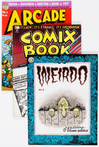 Underground Magazine and Oversized Comix Group of 44 (Various Publishers, 1970s-80s) Condition: Average FN.... (Total: 4...