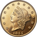 "S.S.C.A. Relic Gold Medals, (2001) 1855 $50 SSCA Relic Gold Medal ""1855 Kellogg & Co.Fifty"" Gem Proof PCGS...."