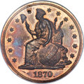 1870 $1 One Dollar, Judd-1017, Pollock-1151, R.7, PR65 Red and Brown NGC. CAC....(PCGS# 71265)