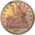Patterns, 1873 T$1 Trade Dollar, Judd-1317, Pollock-1460, R.7, PR64 Red and Brown PCGS....