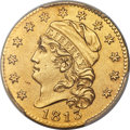Early Half Eagles, 1813 $5 BD-1, R.2 -- Smoothed -- PCGS Genuine. AU Details....