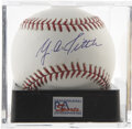 Autographs:Baseballs, Y. A. Tittle Single Signed Baseball, PSA Mint 9. Unique chance toget a strong single signed baseball courtesy of a HOFer. ...