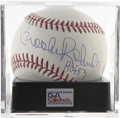 "Autographs:Baseballs, Brooks Robinson ""HOF 83"" Single Signed Baseball, PSA Mint 9. TheHuman Vacuum Cleaner Brooks Robinson here makes note of his..."