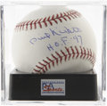 """Autographs:Baseballs, Phil Niekro """"H.O.F. '97"""" Single Signed Baseball, PSA Mint+ 9.5.Exceptional white OML orb seen here houses a great signature..."""