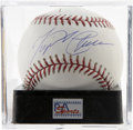 Autographs:Baseballs, Miguel Carbrera Single Signed Baseball, PSA Mint 9. The Marlins'sensation third baseman Miguel Cabrera provides this near f...