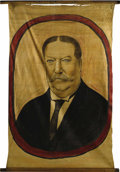 Political:Textile Display (1896-present), William Howard Taft: An Impressive Large, Colorful Hand-PaintedPolitical Banner....