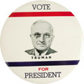 "Political:Pinback Buttons (1896-present), Harry S. Truman: 9"" Truman for President Convention Pin...."
