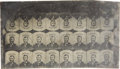 Political:Ferrotypes / Photo Badges (pre-1896), Ulysses S. Grant: A Rare Uncut Sheet of Tintype Ferrotype BadgeInserts....