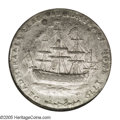 Colonials: , 1778-1779 TOKEN Rhode Island Ship Token, Wreath Below, Pewter XF45 NGC. Breen-1142. Well defined with a modest amount of p...