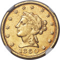 Territorial Gold , 1860 $2 1/2 Clark, Gruber & Co. Quarter Eagle AU58 NGC. K-1, R.4....