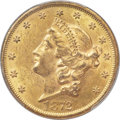 Liberty Double Eagles, 1872 $20 MS61 PCGS....