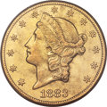 Liberty Double Eagles, 1883-CC $20 -- Cleaning -- PCGS Genuine. AU Details. Variety 2-A....