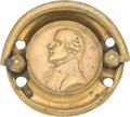 Antiques:Decorative Americana, Thomas Jefferson: A Most Unusual Large-size Brass Drawer Pull....