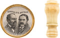 "Political:Ferrotypes / Photo Badges (pre-1896), Garfield & Arthur: ""Sketch"" Jugate and Bonus...."