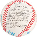 Autographs:Celebrities, Justice Antonin Scalia: A Baseball Personally Inscribed to the Justice by Hall of Fame Baseball Player DiMaggio....