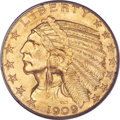 Indian Half Eagles, 1909 $5 MS65 PCGS....