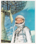 Autographs:Celebrities, John Glenn and Alan Shepard Color Photo Signed to and from theArchives of Soviet General Nikolai Kamanin....