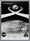 Explorers:Space Exploration, Apollo 8 Crew-Signed 25th Anniversary Poster Originally from the Personal Collection of Astronaut Paul Weitz, Certified and Si...