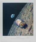 "Explorers:Space Exploration, Alan Bean Signed Limited Edition ""Homeward Bound"" Print, also Signed by Apollo 8 Astronauts Frank Borman and James Lovell, #AP..."