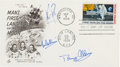 """Explorers:Space Exploration, Apollo 11 Crew-Signed """"First Man on the Moon"""" First Day Cover...."""