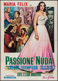 "Movie Posters:Foreign, Naked Passion (Lux Film, 1953). Italian 2 - Fogli (39"" X 55""). Foreign.. ..."