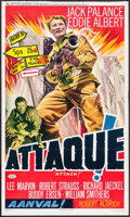 "Movie Posters:War, Attack! (United Artists, 1956). Belgian (14"" X 24""). War.. ..."