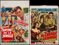 """Movie Posters:Adventure, Captive Girl & Other Lot (Columbia, 1950). Belgian (14"""" X21.5"""") & Trimmed Belgian (14"""" X 19""""). Adventure.. ... (Total: 2Items)"""