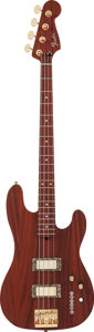 Musical Instruments:Bass Guitars, Custom Red Stain Electric Bass Guitar....
