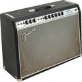 Musical Instruments:Amplifiers, PA, & Effects, 1968 Fender Vibrolux Black Guitar Amplifier, Serial #A11178....