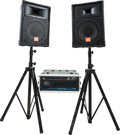 Musical Instruments:Amplifiers, PA, & Effects, Circa 1990s JBL P.A. System and Components.... (Total: 6 )