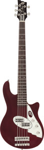 Musical Instruments:Bass Guitars, Circa 2010 Dusenberg D-Bass Burgundy Electric Bass Guitar, Serial #130134....
