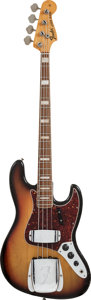 Musical Instruments:Bass Guitars, 1971 Fender Jazz Bass Sunburst Electric Bass Guitar, Serial #290903....
