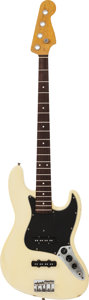 Musical Instruments:Bass Guitars, Circa 1969 Fender Jazz Bass White Electric Bass Guitar, Serial #278352....