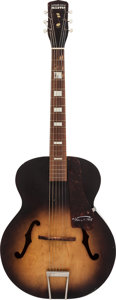 Musical Instruments:Acoustic Guitars, Circa 1950s Harmony Master Sunburst Archtop Acoustic Guitar, Serial #1483R945....