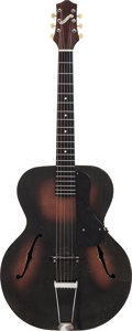 Musical Instruments:Acoustic Guitars, Circa 1940s Gretsch 35 Sunburst Archtop Acoustic Guitar....