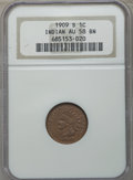 Indian Cents, 1909-S 1C AU58 NGC. NGC Census: (102/283). PCGS Population: (158/254). CDN: $18 Whsle. Bid for problem-free NGC/PCGS AU58. ...