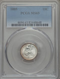 Seated Dimes: , 1885 10C MS65 PCGS. PCGS Population: (53/36). NGC Census: (65/53). CDN: $500 Whsle. Bid for problem-free NGC/PCGS MS65. Min...