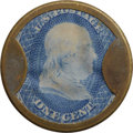 Encased Postage: , HB-49 EP-6a 1¢ Joseph Bates FancyGoods About New.. ...