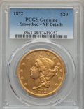 Liberty Double Eagles, 1872 $20 -- Smoothed -- PCGS Genuine. XF Details. NGC Census: (8/684). PCGS Population: (21/520). CDN: $1,205 Whsle. Bid fo...