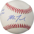 Baseball Collectibles:Balls, 2010 Mike Trout Single Signed Baseball with Draft Pick Inscription....