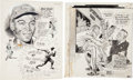 Baseball Collectibles:Others, 1950's Ernie Banks & Satchel Paige Production Art. ...