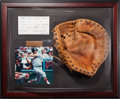 Baseball Collectibles:Others, 1970's Carl Yastrzemski Game Used Fielder's Glove with Yaz Letter, MEARS Authentic....