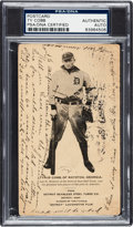 Baseball Cards:Singles (Pre-1930), 1907 Seamless Steel Tubes Post Card Ty Cobb Rookie with CobbHandwritten & Signed Baseball-Related Message, PSA/DNAAuthentic....