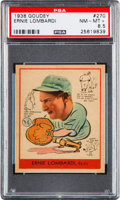 Baseball Cards:Singles (1930-1939), 1938 Goudey Ernie Lombardi #270 PSA NM-MT+ 8.5 - Pop Two, NoneHigher....